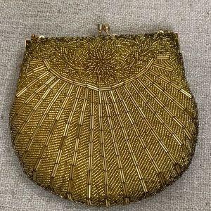 Vintage Gold Beaded Sea Shell Mini Bag